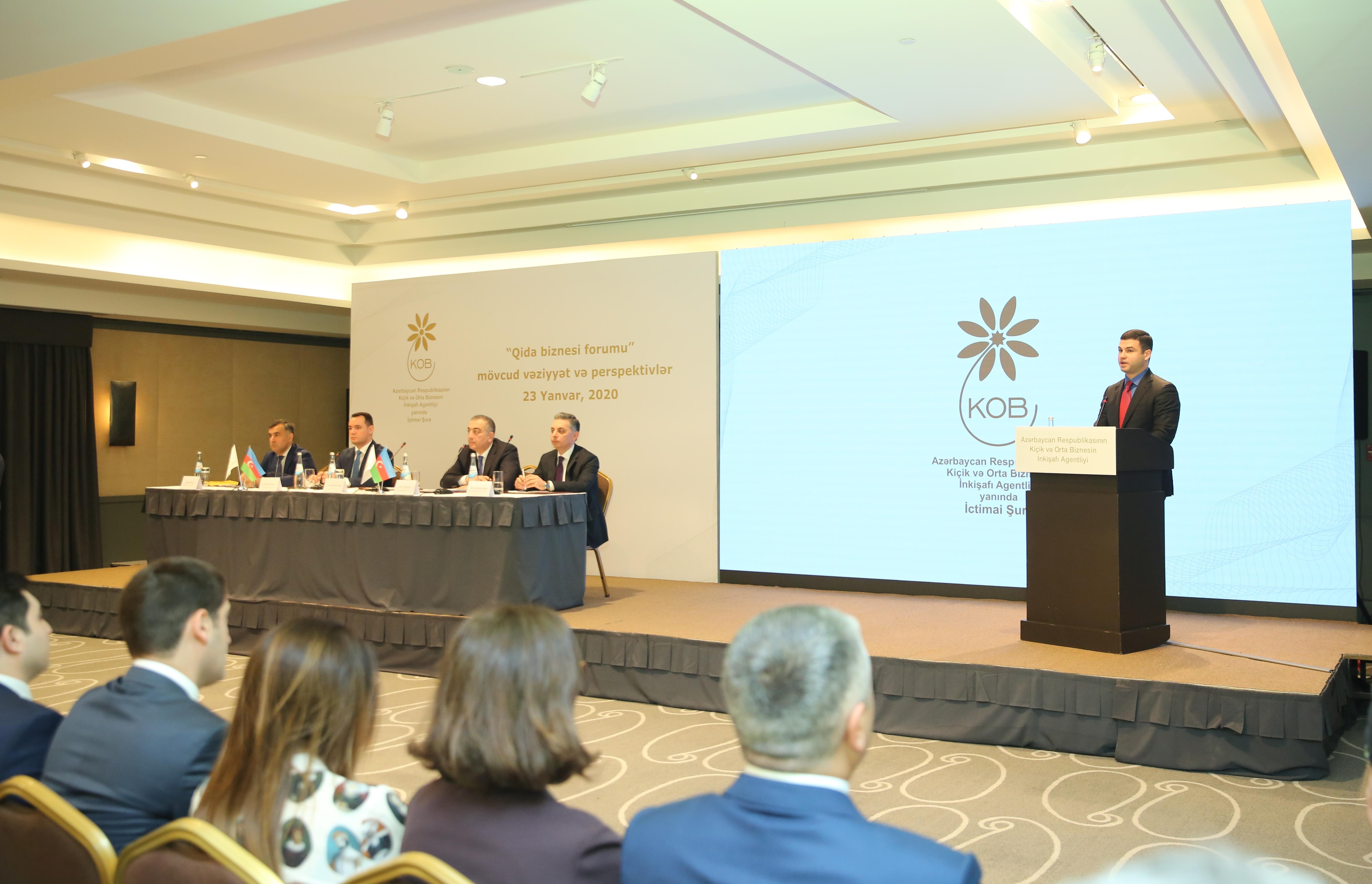 KOBİA yanında İctimai Şuranın forumunda qida biznesi sahəsində müzakirələr aparılıb