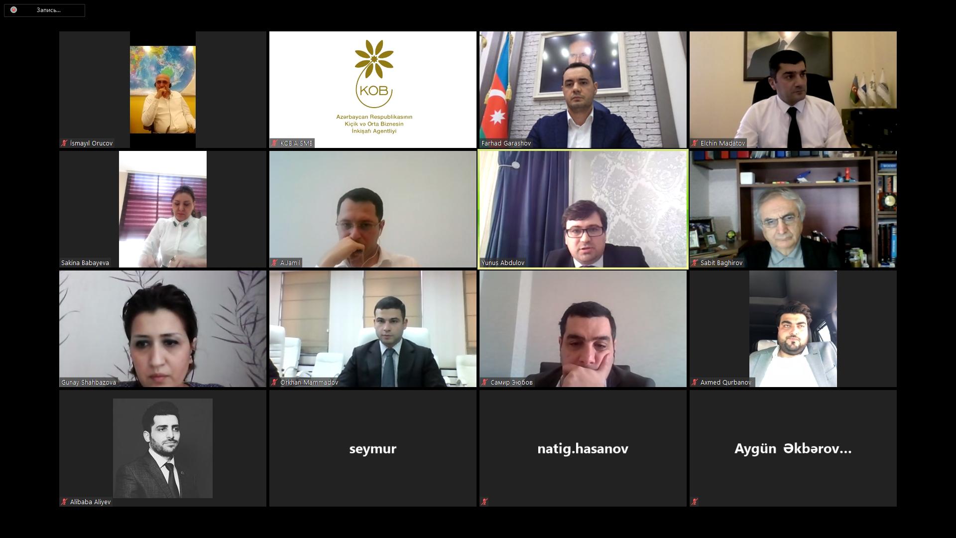 KOBİA yanında İctimai Şura üzvləri ilə videokonfrans keçirilib
