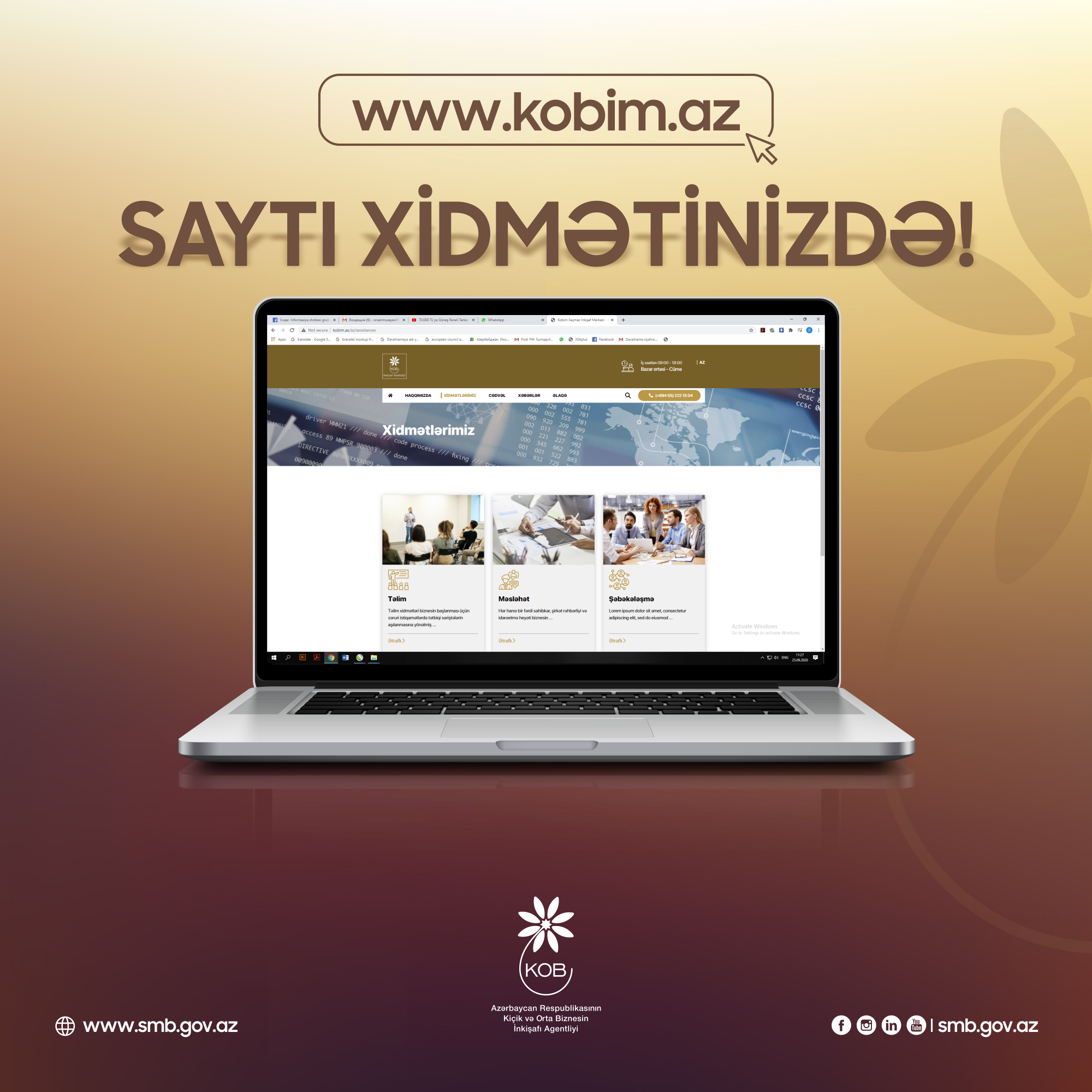 KOB inkişaf mərkəzlərinin vahid portalı - www.kobim.az sahibkarların istifadəsinə verildi