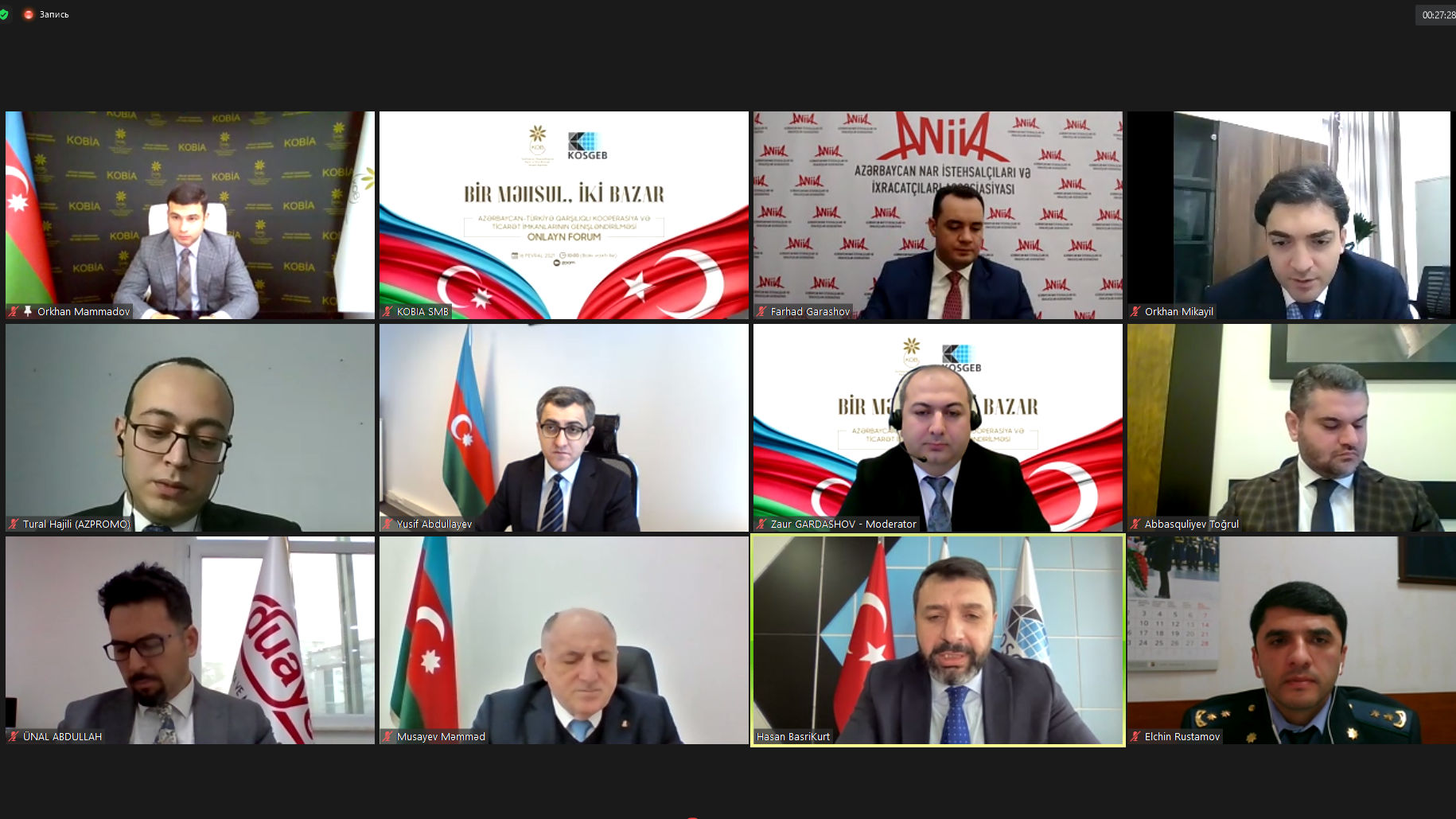 "Azerbaijani-Turkish Forum on ""One product, two markets"" was held"