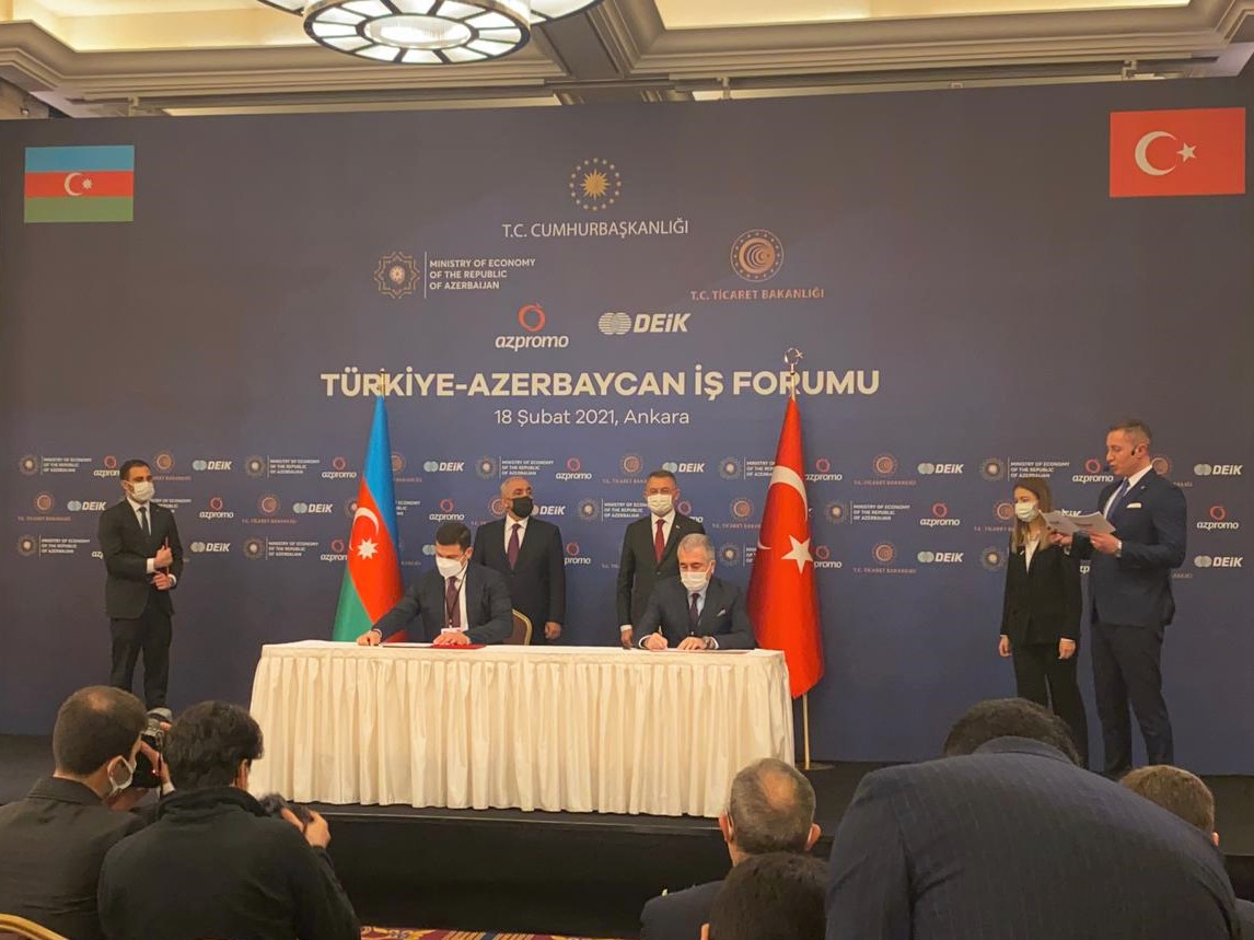 Documents on cooperation between SMBDA and the relevant agencies of Turkey signed