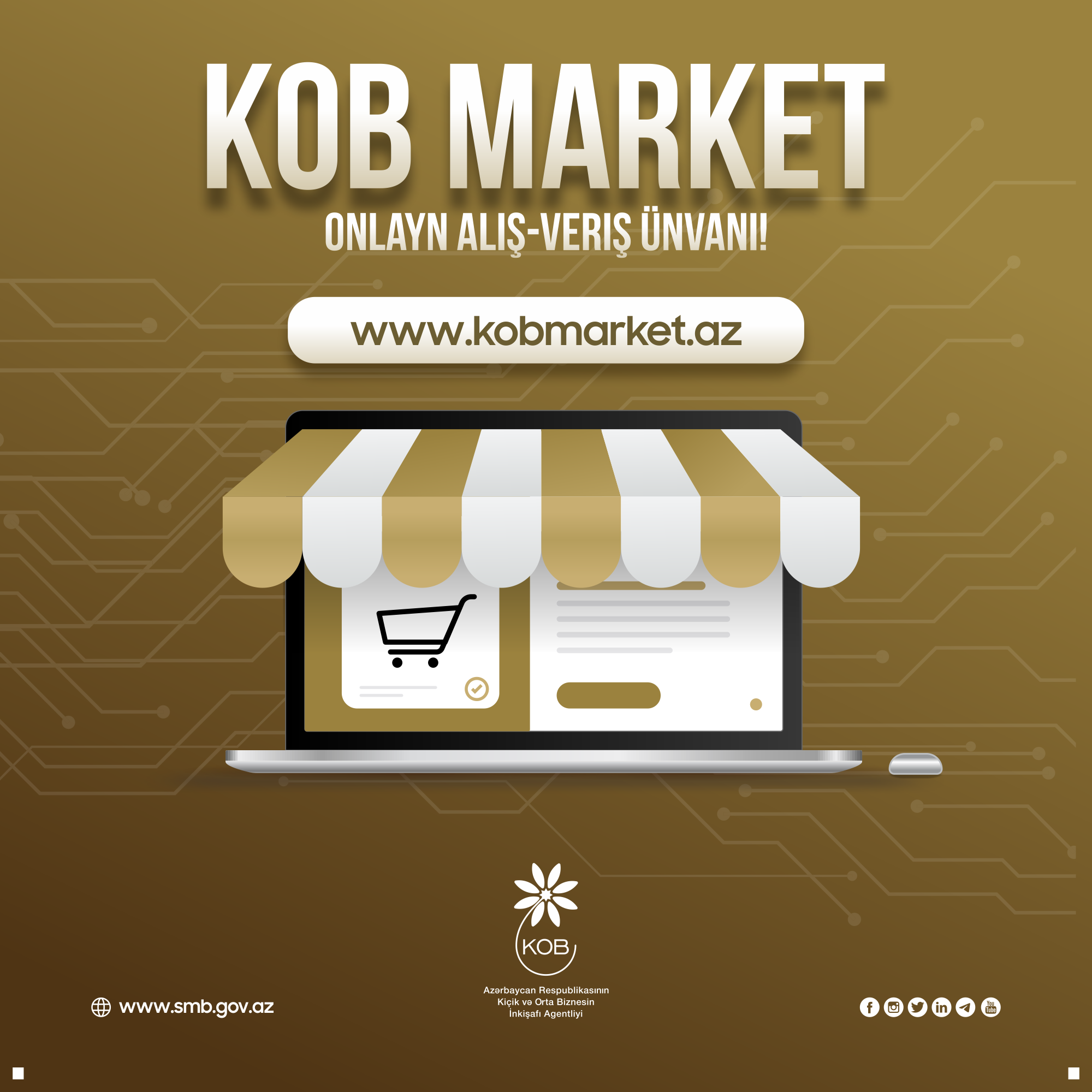 An online sales portal for micro and small businesses www.kobmarket.az has been launched