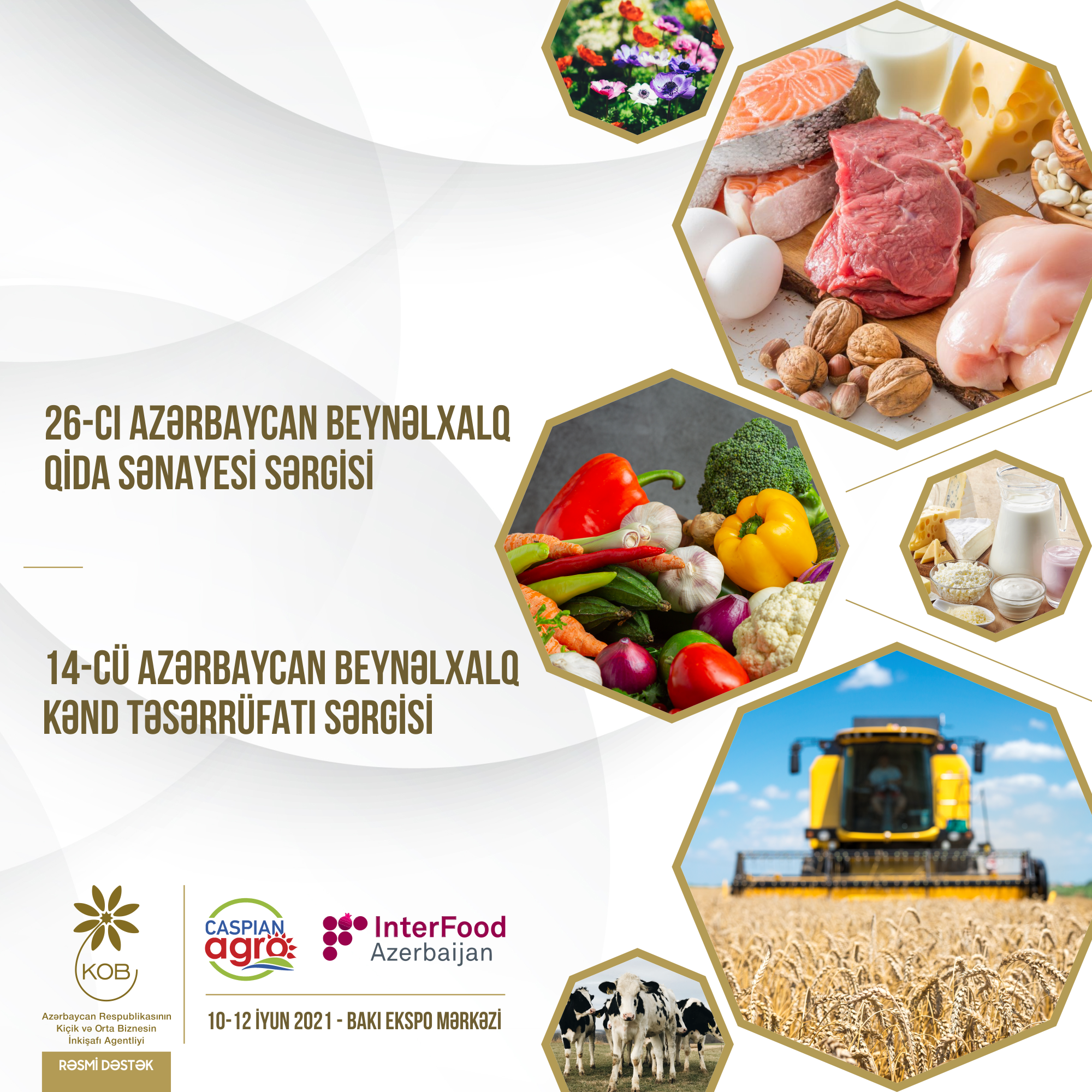 """KOBIA supports """"Caspian Agro 2021"""" and """"InterFood Azerbaijan 2021"""" exhibitions"""