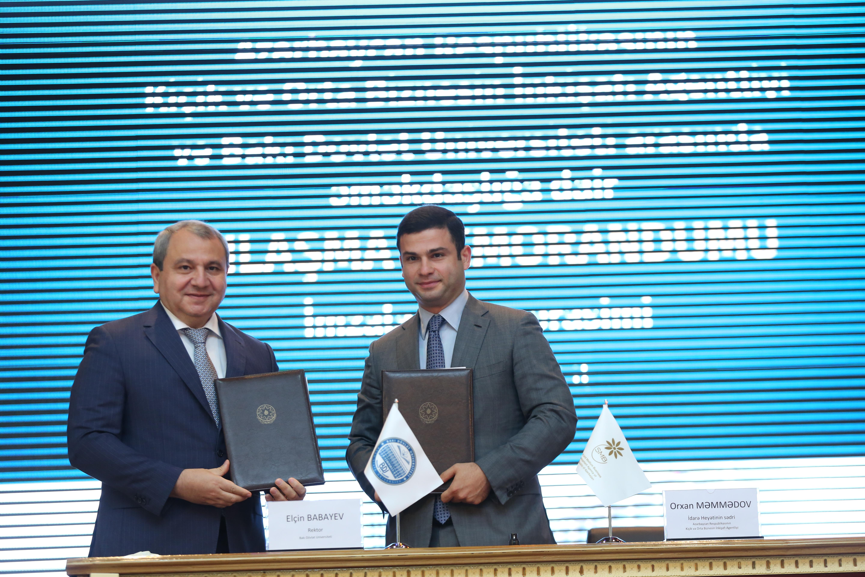 Между АРМСБ и Бакинским Государственным Университетом подписан Меморандум о Взаимопонимании